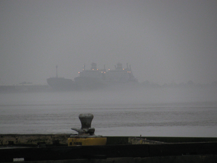Navy Ships in the Fog