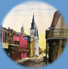 paintings of street scenes in New Orleans
